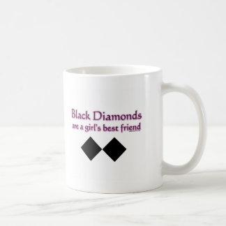 Black diamonds are a girls best friend classic white coffee mug