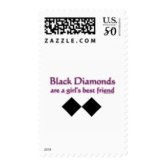 Black diamonds are a girls best friend postage