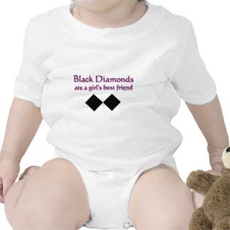 Black diamonds are a girls best friend t-shirts
