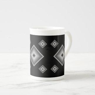 Black Diamonds Bone China Mug by Janz