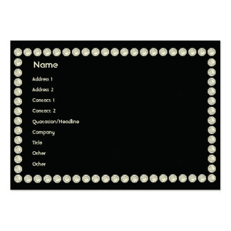 Black Diamonds - Chubby Business Card Templates