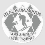 Black Diamonds Classic Round Sticker