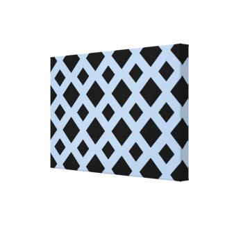 Black Diamonds on Light Blue Canvas Print
