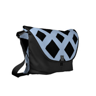 Black Diamonds on Light Blue Courier Bag