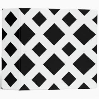 Black Diamonds on White Vinyl Binder