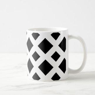 Black Diamonds on White Coffee Mug