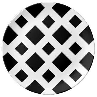 Black Diamonds on White Plate