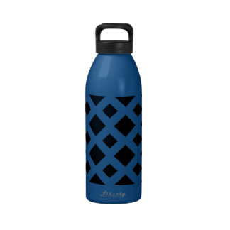 Black Diamonds on White Water Bottle