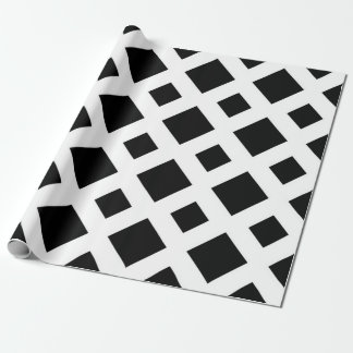 Black Diamonds on White Wrapping Paper