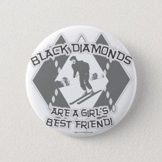 Black Diamonds Pinback Button