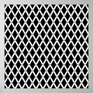 Black Diamonds-White Frames Poster