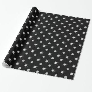 Black diamonds wrapping paper