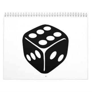 Black dice calendar