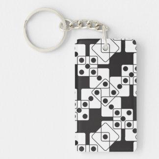 Black Dice Keychain