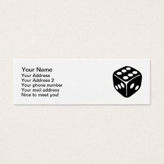 Black dice mini business card