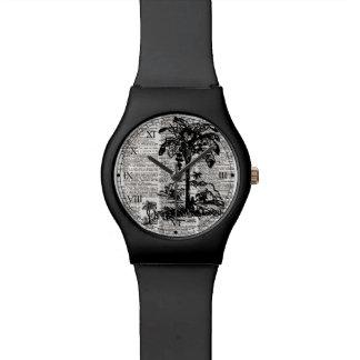 Black Dictionary Art Watch