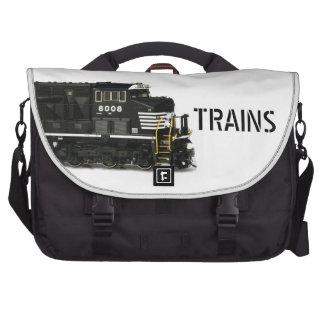 Black Diesel Locomotive Laptop Messenger Bag