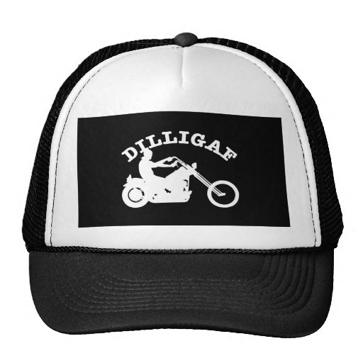 Black  Dilligaf Chopper Trucker Hat