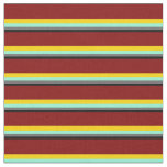 [ Thumbnail: Black, Dim Gray, Aquamarine, Yellow & Maroon Fabric ]