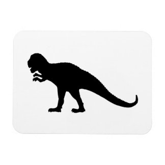 Black Dinosaur Rectangular Photo Magnet
