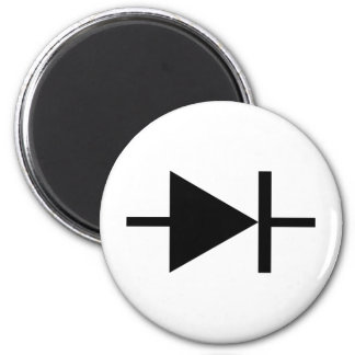black diode icon 2 inch round magnet