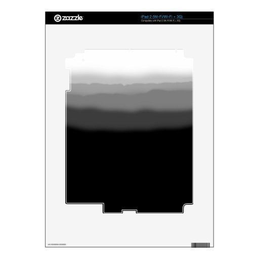 Black Dip Dye iPad 2 Decal