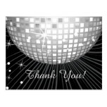 BLACK, DISCO PARTY, DANCE, BIRTHDAY THANK YOU CARD