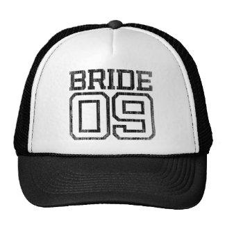 Black Distressed Bride 09 Baseball Cap Mesh Hat