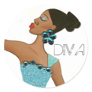 Black Diva stickers sticker