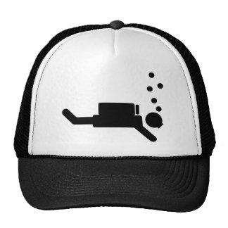 black diver icon trucker hat