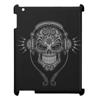 Black DJ Sugar Skull Cover For The iPad 2 3 4