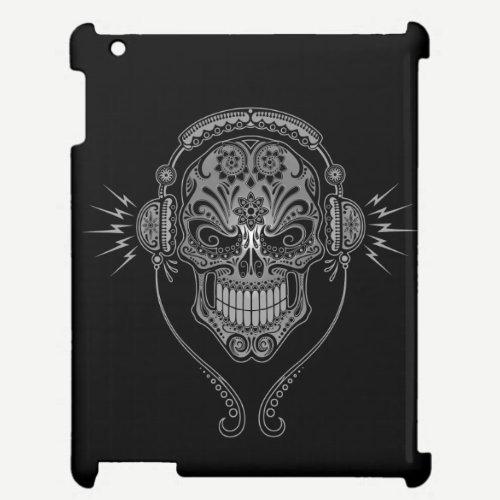 Black DJ Sugar Skull iPad Case