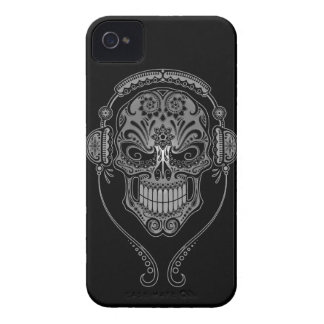 Black DJ Sugar Skull iPhone 4 Cover