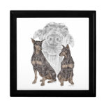 Black Doberman Dogs Gift Box