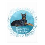 Black Doberman Pinscher Post Cards