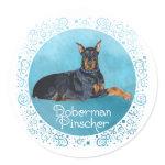 Black Doberman Pinscher Sticker