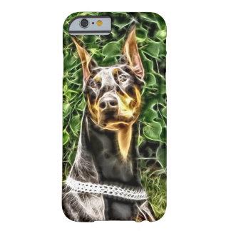 Black Doberman Potrait (v3-3) Barely There iPhone 6 Case