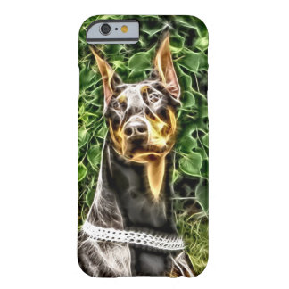 Black Doberman Potrait (v3-3) Barely There iPhone 6 Case