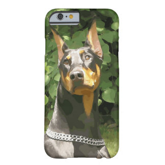 Black Doberman Potrait (v9-2) Barely There iPhone 6 Case