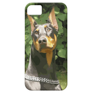 Black Doberman Potrait (v9-2) iPhone SE/5/5s Case