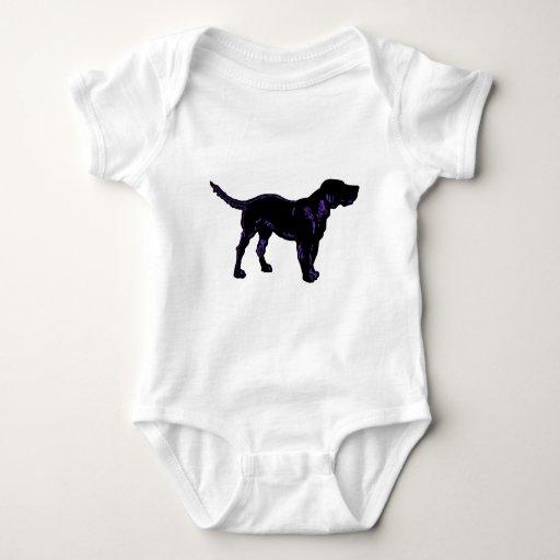 Black Dog Baby Bodysuit