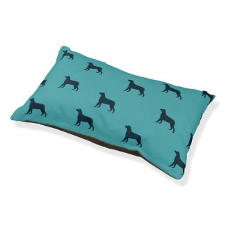 Black Dog Blue Pet Bed
