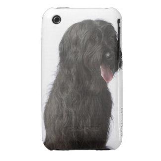Black dog, Briard iPhone 3 Covers