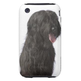 Black dog, Briard iPhone 3 Tough Covers