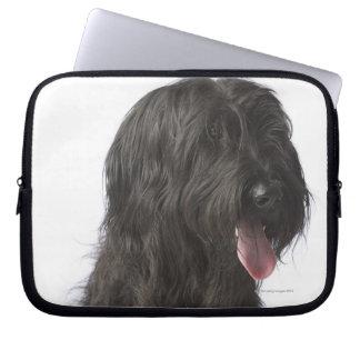 Black dog, Briard Laptop Sleeve