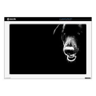 "Black Dog Decals For 17"" Laptops"