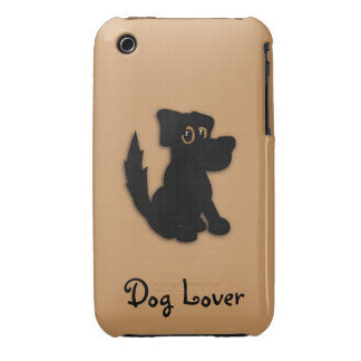 Black Dog / Dog Lover iPhone 3G Case Case-Mate iPhone 3 Cases