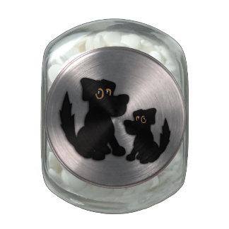 Black Dog Family Glass Candy Jars