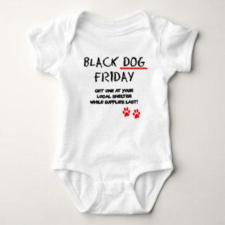 Black Dog Friday Baby Bodysuit