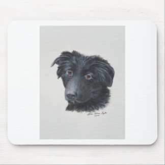 Black Dog Mouse Pad